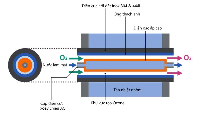Buồng tạo Ozone & nguyên lý tạo Ozone